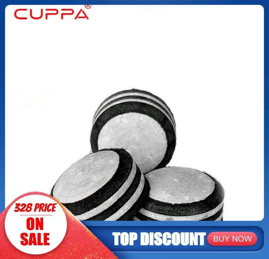 New Arrival One Piece Cuppa Leather Pool Snooker Stick Kit Cue Tips 13mm 12mm 10mm Billiard Accessories China 2019