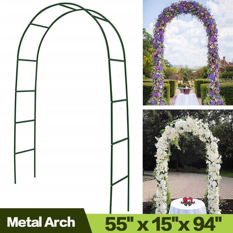 AULAYSED 7 9  Metal Arch Wedding Arch Garden Bridal Party Garden Arbors Garden Arbor for Climbing Plants