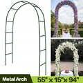AULAYSED 7.9' Metal Arch Wedding Arch Garden Bridal Party Garden Arbors Garden Arbor for Climbing Plants