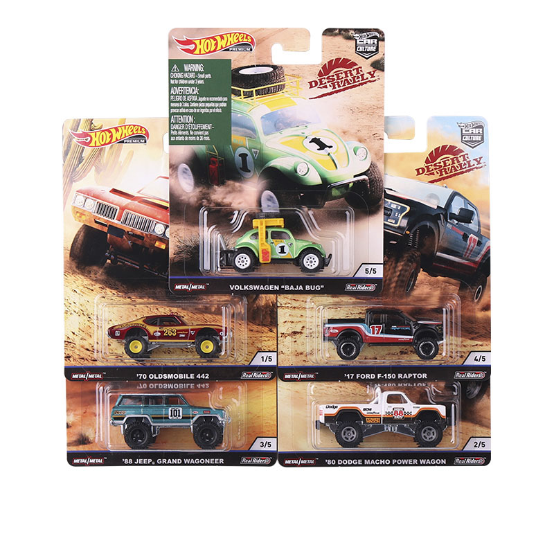 Hot Wheels Car Culture Desert Rally FORD JEEP VOLKSWAGEN OLDSMOBILE Collector Edition Real Riders Metal Diecast Model Car