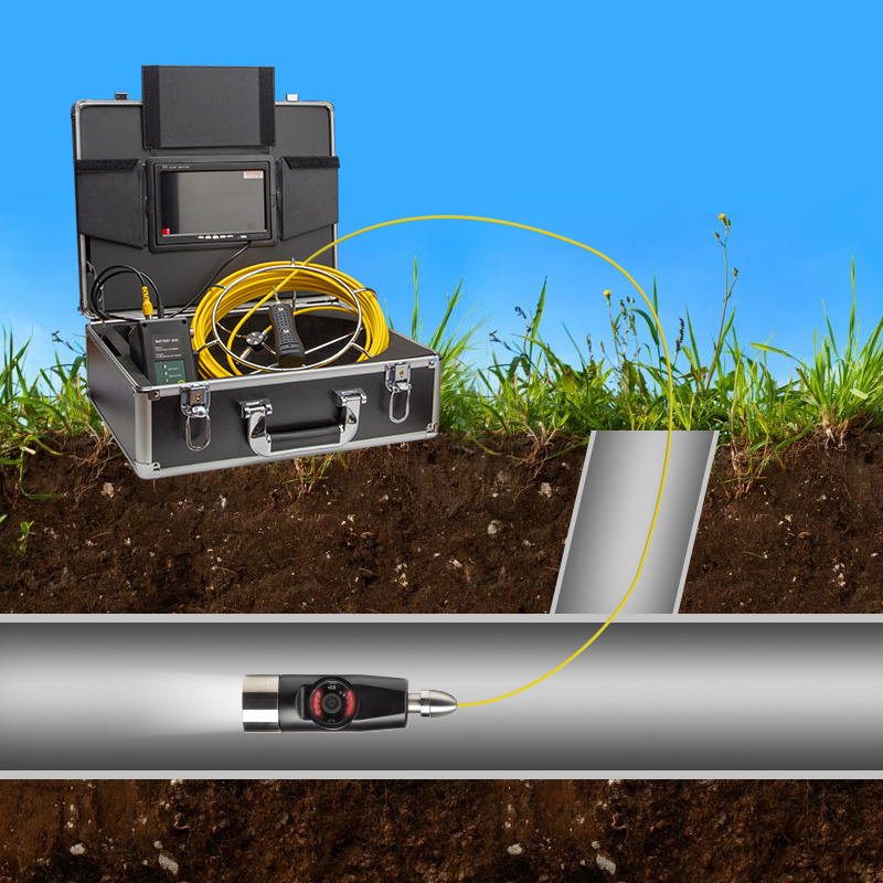 Image 5 - Exclusive Design 4500mAh HD Dual Camera Lens Drain Sewer Pipeline Industrial Endoscope SYANSPAN Pipe Inspection Video Camera-in Surveillance Cameras from Security & Protection
