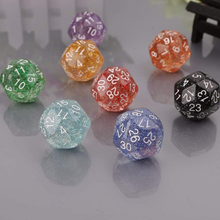 2 шт. 25 мм D30 Прозрачные Акриловые Блестящие кубики D30 для настольных игр и других игр аксессуары