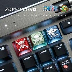 Zomo One Piece Artisan Keycap CNC anodyzowane aluminium kompatybilny przełącznik cherry mx esc Brook Chopper Franky Luffy Nami Sanji Zoro