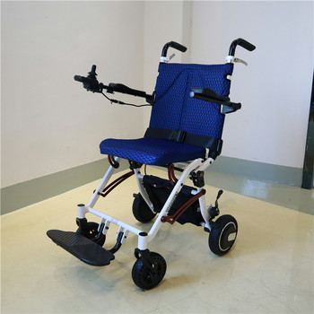 Disabled electric wheelchair elderly scooter folding  small intelligent automatic ultra light travel trolley