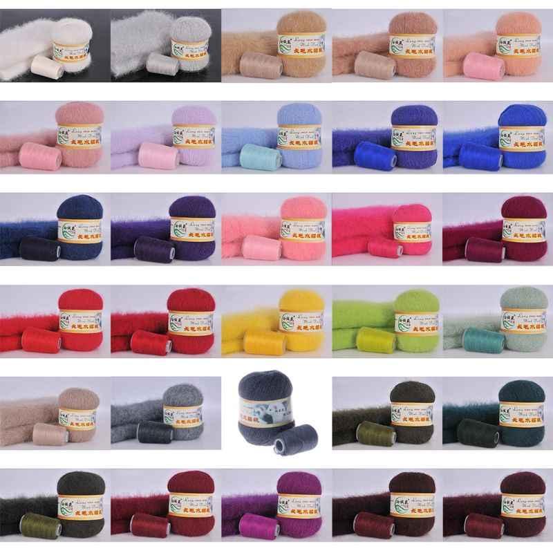 31 kleuren 50g zachte nertsen fluwelen wol hand-gebreide luxe lange-wol kasjmier Gehaakte gebreide garen Hoogwaardige voor herfst winter