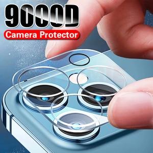Image 1 - 9000D 전체 커버 카메라 렌즈 보호 유리 아이폰 12 11 프로 최대 강화 유리 아이폰 X XS XR XS 최대 후면 렌즈 유리