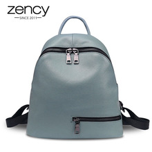 Zency 100% Genuine Leather Women Backpack Daily Casual Trave