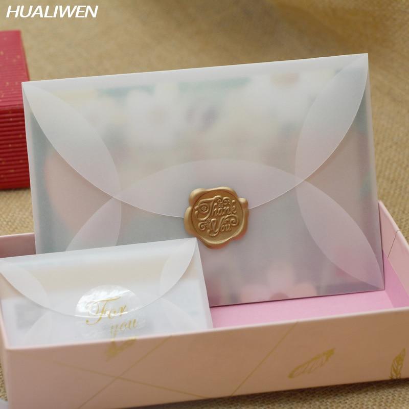 20pcs/lot Custom Semi-transparent Sulfuric Acid Paper Envelopes For DIY Postcard /Card Storage, Wedding Invitation, Gift Packing