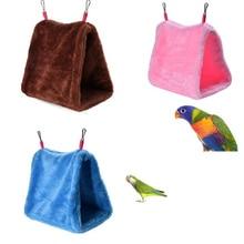 Pet Parrot Hammock Bird Hanging Bed House Plush Winter Warm Cage Nest Tent