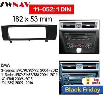 Car DVD Player frame For BMW 3-Series E90/91/92/93 2004-2012 1DIN Auto Radio Multimedia NAVI fascia image