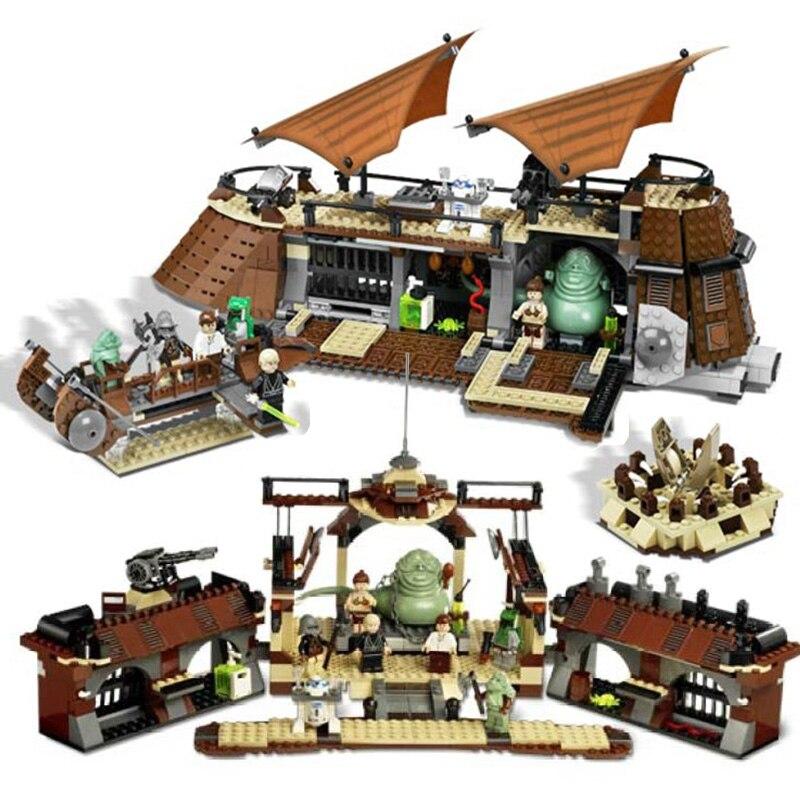 05090 Compatible Legoinglys Star Wars 6210 Jabba Sail Barge Model Building Blocks 821 Piece Bricks Boys Birthday Toy Gift