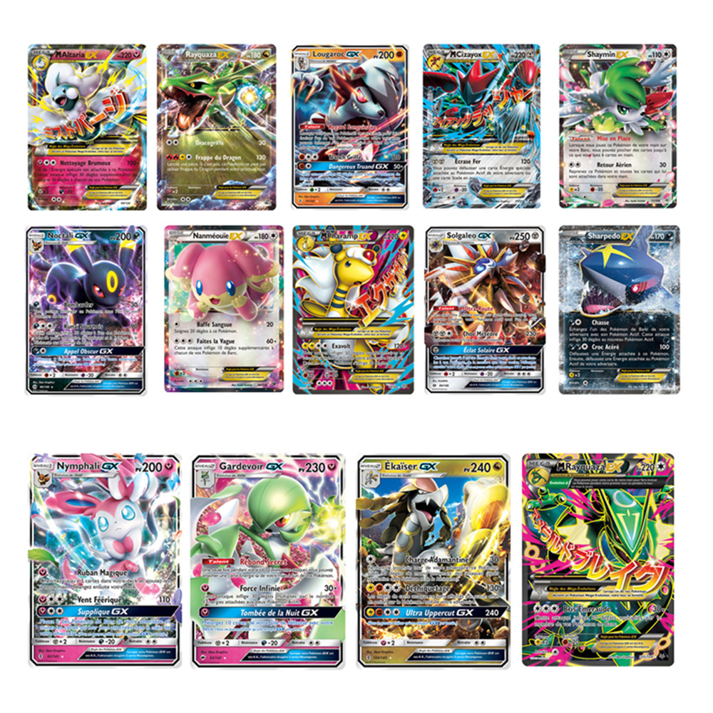 TOMY French Version Pokemon GX Shining Frenchs Cards Game Battle Carte Trading Cards Game Children Toy