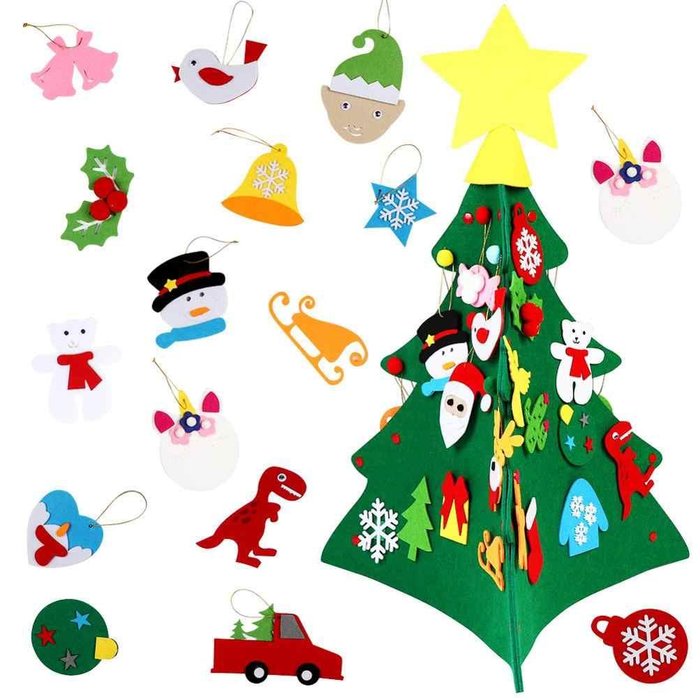 OurWarm חדש שנה מתנות ילדים DIY הרגיש קישוטים לעץ קישוטי מתנות עבור 2018 חדש שנה של דלת קיר תלוי קישוטים