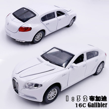 Cheap 1:32 Bugatti Galibier Veyron Cars toy Sound Light Pull Back 4 Doors car Models Collection Children gift