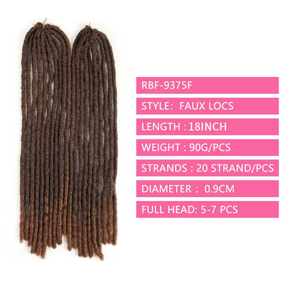 Soku Gerade Faux Loks Geflecht Ombre Braun Synthetische Haar Extensions Jumbo Zöpfe Häkeln Flechten African Dreadlocks Frisur