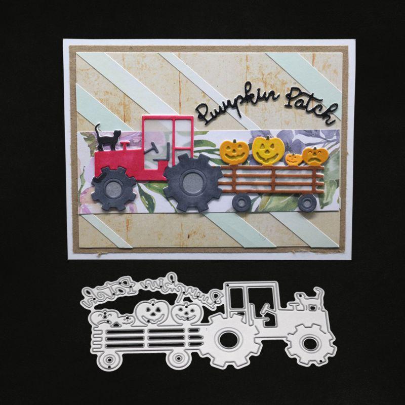 Camion Cat in Metallo Fustelle Stencil Scrapbooking Fai da Te Album di Francobolli di Carta Carta di Goffratura Decor Craft - 4