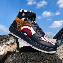 New Arrival Brand Vulcanized Shoes for Men Damping High