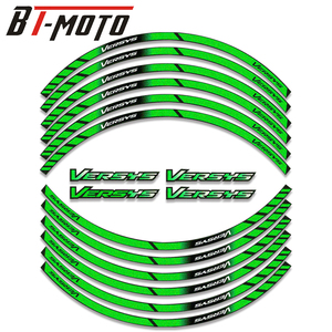 Image 1 - Película de diamante para KAWASAKI Versys 650/1000 VERSYS650 Versys1000, pegatinas de rueda de colores, reflectantes, impermeables, calcomanías de llanta