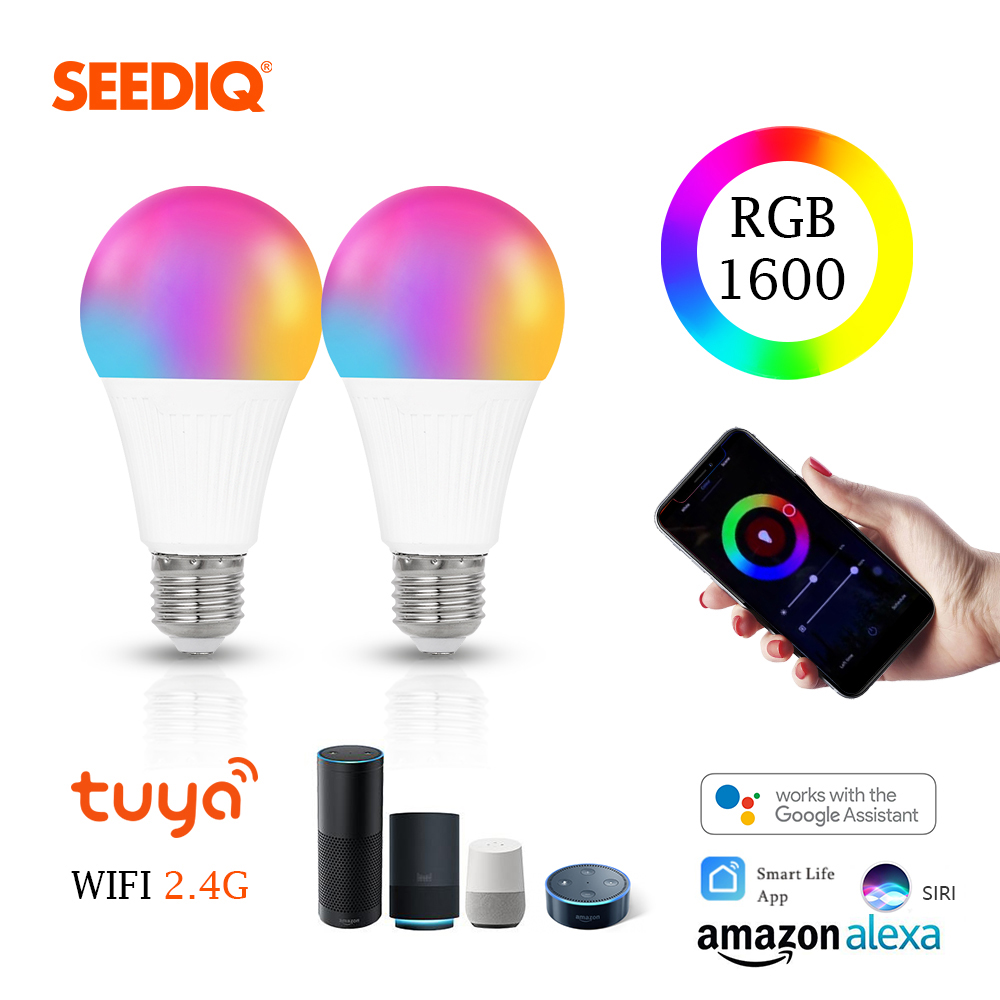 7W 9W Smart Light Bulb WiFi Led Bulb Home Lighitng Led Lamp E27 Bombillas Dimmable 220v 240v 110V Magic RGB + W +WW RGB Lampada