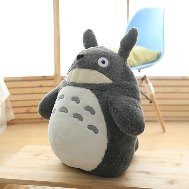 Totoro Plush Toy Cute Plush Cat Japanese Anime Figure Doll Plush Totoro With Lotus Leaf Kids Toys Birthday Christmas Gift 3