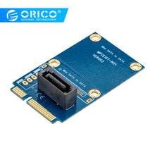 ORICO SATA 7PIN к адаптер mSATA вертикальный тип SSD адаптер Поддержка SATA3 протокол поддержка полноразмерная двусторонняя печатная плата