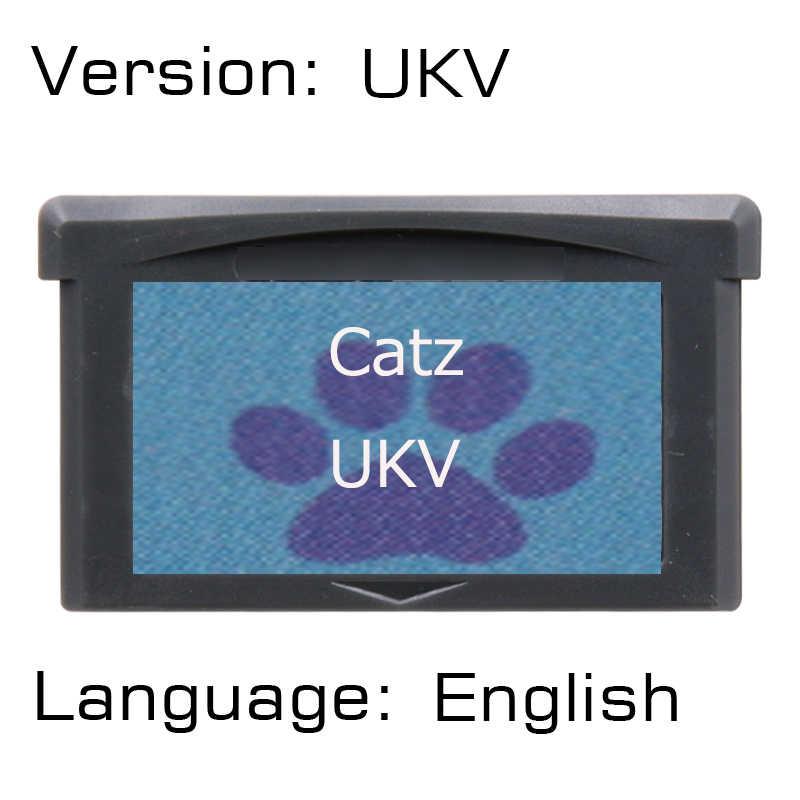 Catz 32 бит картридж для видеоигр консоль карта UKV версия на английском языке