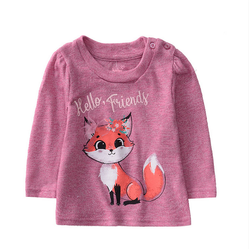 Autumn Infant Girl <font><b>Long</b></font> <font><b>Sleeve</b></font> T-<font><b>Shirts</b></font> Toddler Kids Cartoon Printed Tops Tees Casual Blouse Girls Clothes image