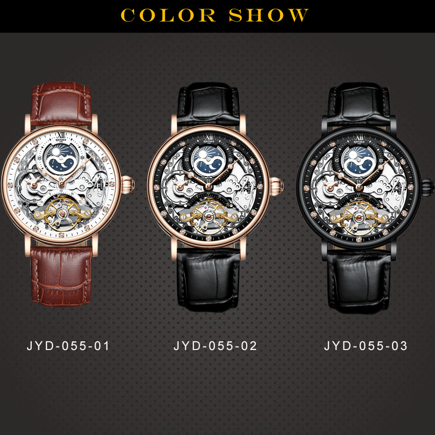 H1544d9cf328543bab2eee81316c3b3789 KINYUED Skeleton Watches Mechanical Automatic Watch Men Tourbillon Sport Clock Casual Business Moon Wrist Watch Relojes Hombre