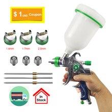 цена на Paint Spray Gun Set Hvlp Gun Set Painting Kit Spraying Airbrush Professional Air Paint Car Auto Repair Tool Nail Manicure Inkjet