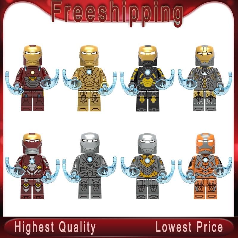 Building Blocks Super Heroes Iron Man MARK MK14 MK15 MK16 MK18 MK19 MK20 MK21 MK28 Bricks Figures For Children Toys Gift X0254
