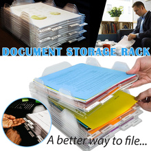 10pcs/set File Storage Rack Document Trays Organizer A4 Paper Filling Desk Tray Stackable Magazine Paper Office Organizer Tray column metal mesh document rack file holder letter magazine newspaper tray for home office desk organizer supplies document tray