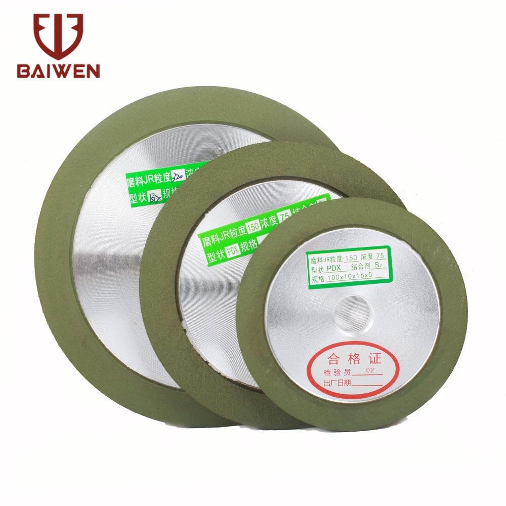 100/125/150mm Diamond Grinding Wheel Cutting Disc Resin Bond Grinder Sharpener Carbide Metal For Tungsten Steel Milling Cutter