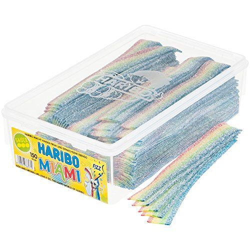 Haribo Pasta Basta Fruity Mix, Gummy Bears, Wine Gummies, Fruit Gummies, 150 Units, 1000 G Tin