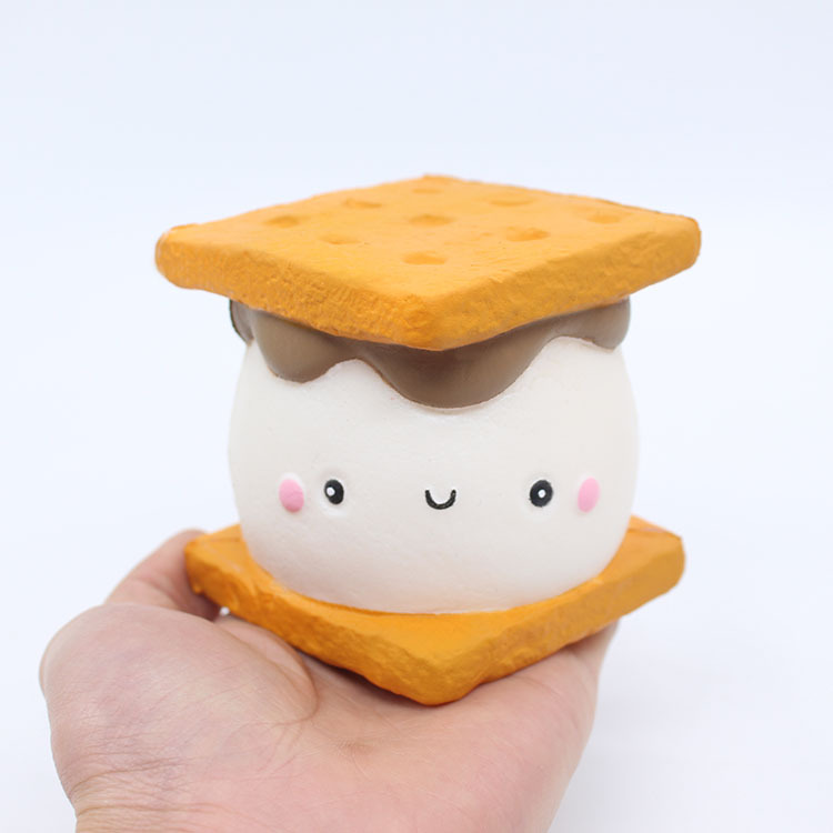 Stress Relief Toy Squeeze Toys Simulation Cake Sandwich Biscuit Squishy Toy Decompression Artifact Interesting Toy
