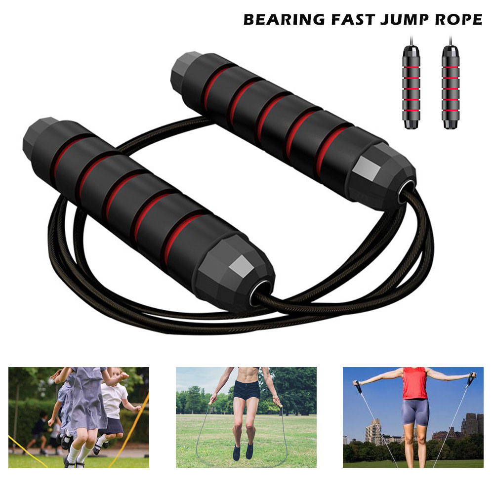 2.8M Adjustable Bearing Skip Rope Speed Fitness Aerobic Jumping Exercise And Fitness Equipment Skipping Jump Rope Jump Ropes    - AliExpress