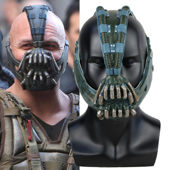 Bane Mask Batman The Dark Knight Cosplay Superhero Latex Masks Helmet Halloween Party Costume Props iron man helmet mask led light cosplay ironman masks superhero weapons halloween party costume hood masque masquerade
