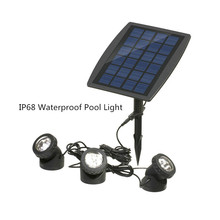 цена на Rgb Garden Solar Decoration Led Light Solar Outdoor Lawn Spotlight Floorlight Waterproof Pond Pool Underwater Lights 3LED Warm