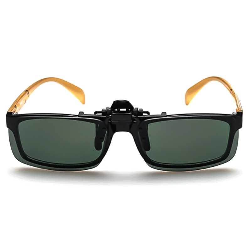 النظارات الشمسية كليب محرك نظارات الشمس الأصفر للرؤية الليلية نظارات ليلة الراتنج عدسة القيادة نظارات