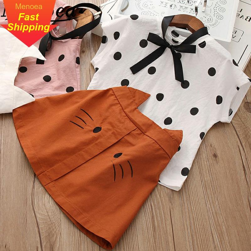 Menoea Clothing-Sets T-Shirt Suits Short Printed Kids Cartoon Sleeveless 2pcs 3-7Y title=
