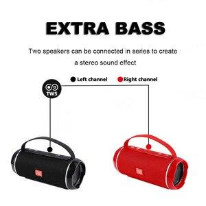 Image 3 - في الهواء الطلق المحمولة عالية الطاقة سمّاعات بلوتوث اللاسلكية بار الصوت العمود مضخم الصوت مركز الموسيقى BoomBox ثلاثية الأبعاد راديو ستيريو