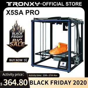 Image 1 - Tronxy X5SA PRO 3D 프린터 구조 키트 diy 자동 레벨 impresora 제어 보드 알루미늄 프로파일 3d 컬러 프린터 tpu 필라멘트
