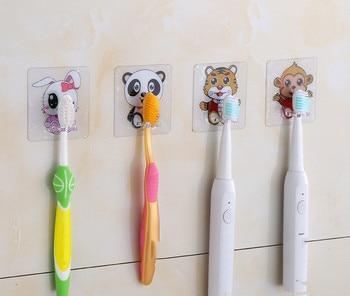 4pcs Toothbrush Holder Transparent Panda Travel Stand Toilet Shaver Organizer Kids Tooth Brush Storage Rack Bathroom Accessories