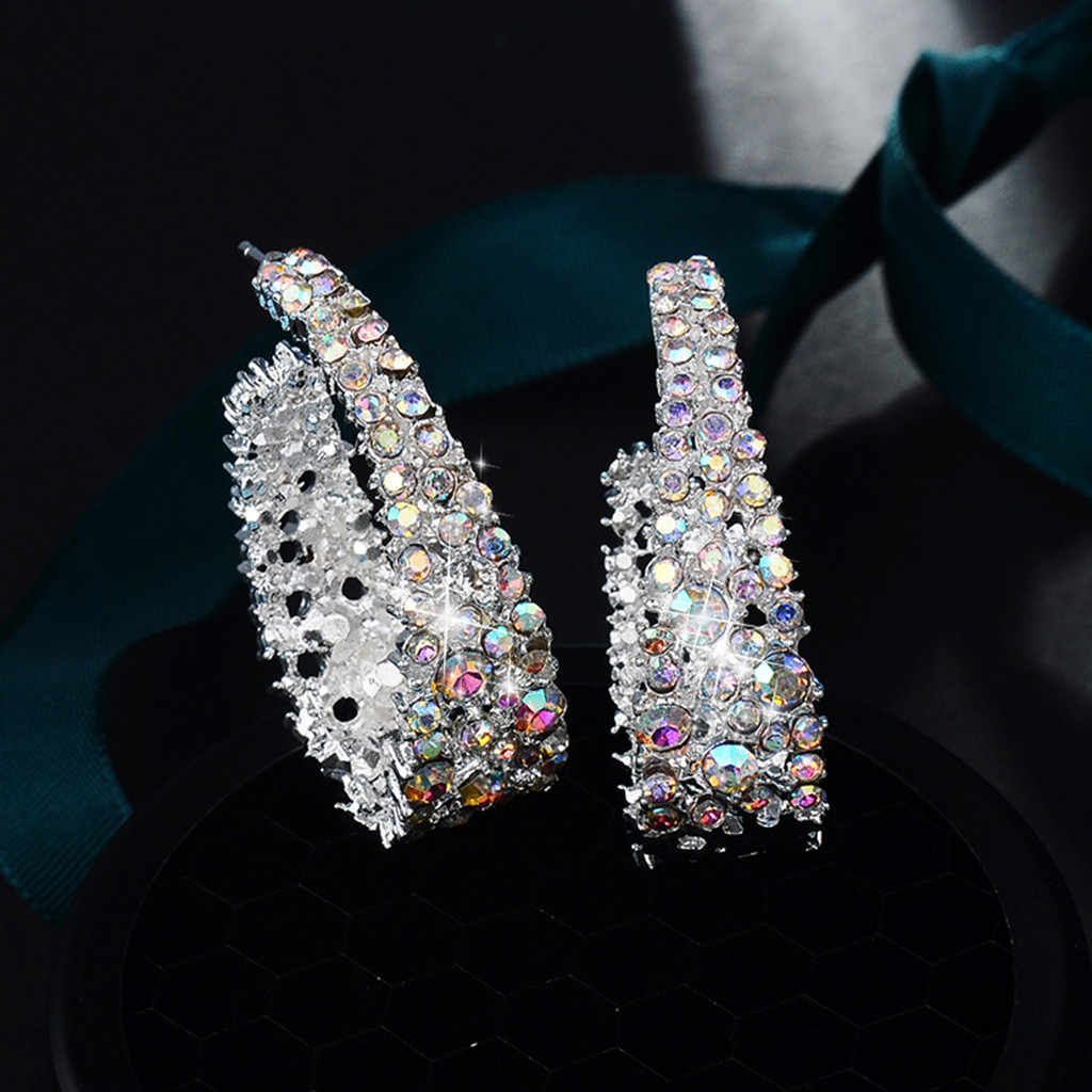 Luxury Bohemian Openwork Geometric Round Earrings Women's Accessories fashion earrings for women 2019 statement hoop earrings