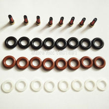 بيع كامل 8 مجموعة حاقن وقود طقم تصليح مرشحات orings قبعات لمرسيدس g500 المحرك m113 112 0280156153 0280155744 0280156014