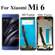 Original LCD For Xiaomi 6 mi6 LCD  MI 6 Mi6 M6 MI6 With Fingerprint LCD Display Screen+Touch Panel Digitizer Assembly With Frame original 1024 768 onyx boox c63ml reader daily edition display with backlight ebookreader lcd panel touch digitizer