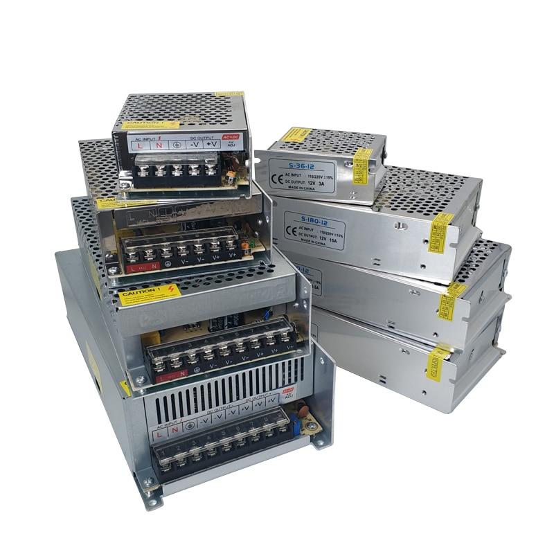 AC DC 3V 5V 9V 12V источник питания 15V 18V 24 V 36V Fonte 500W трансформаторы 220V To 5 12 24 V источник питания 5V 12V 24 V SMPS Mean well