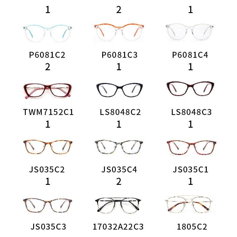 Femmes lunettes cadre Transparent myopie noir chat lunettes montures 10 USD/1 pièces