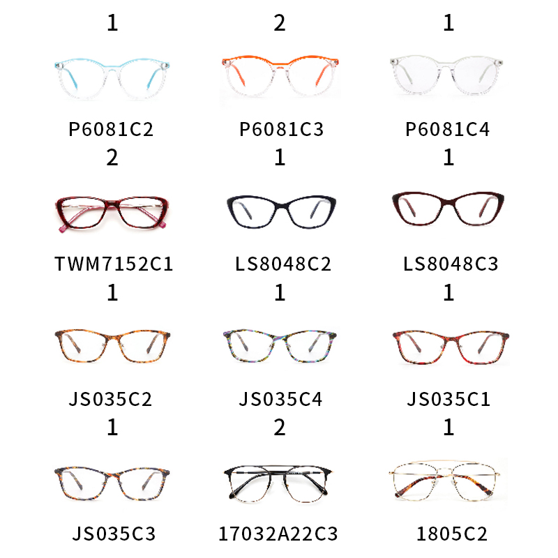 Mulheres Óculos de Armação Miopia Armações de Óculos Olho de Gato Preto Transparente 10 USD/1 PCS