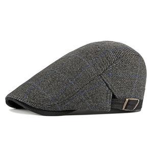 Image 3 - גברים של Newsboy כומתה נהג כובעי משובץ גטסבי כובע קיסוס נהיגה גולף המוניות גברים סתיו כובע כפה