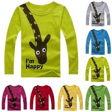 Top T Shirt For Boy,Print Children Boys T Shirt Spring Autumn Kids Tshirt Cotton Long Sleeve Girls Tshirt Cartoon Baby T-Shirts(China)
